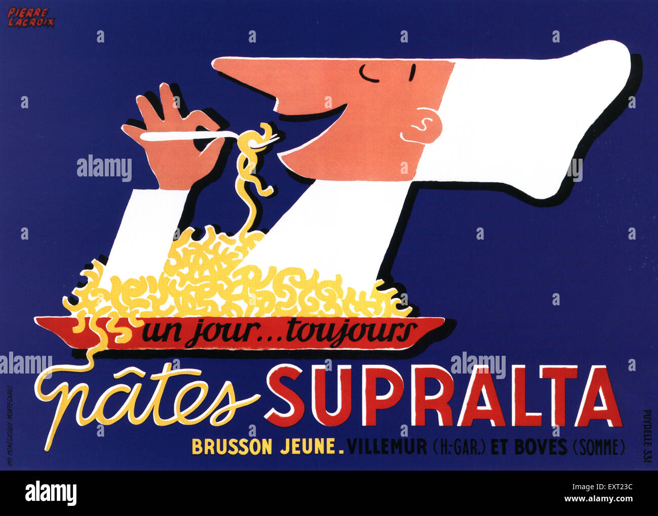 1930s Italy Supralta Poster - Stock Image