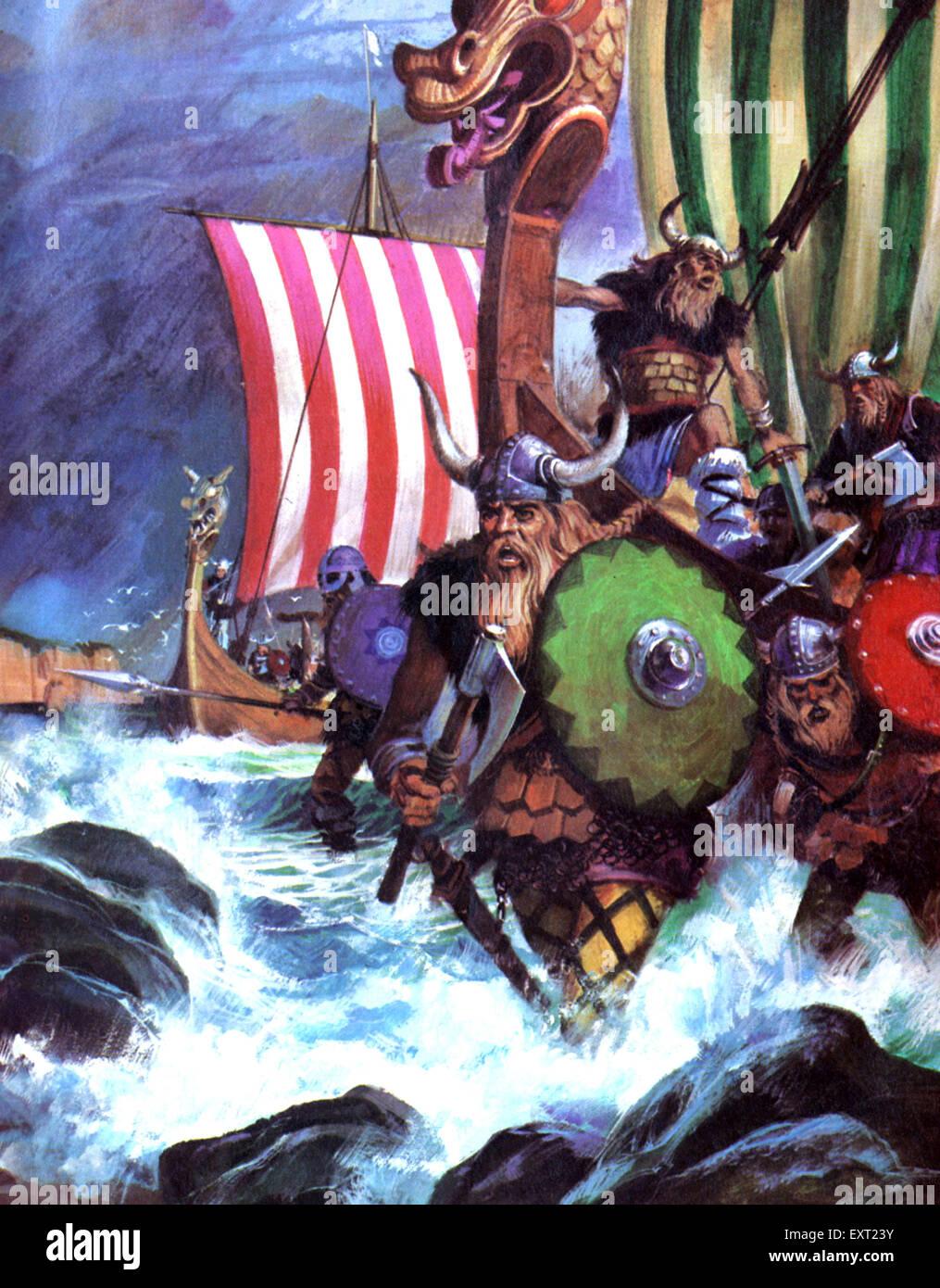 UK Vikings Book Plate - Stock Image