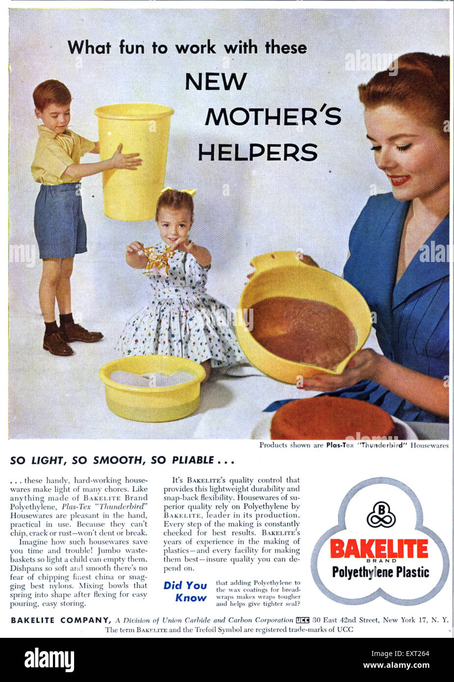 1950s USA Bakelite Magazine Advert - Stock Image