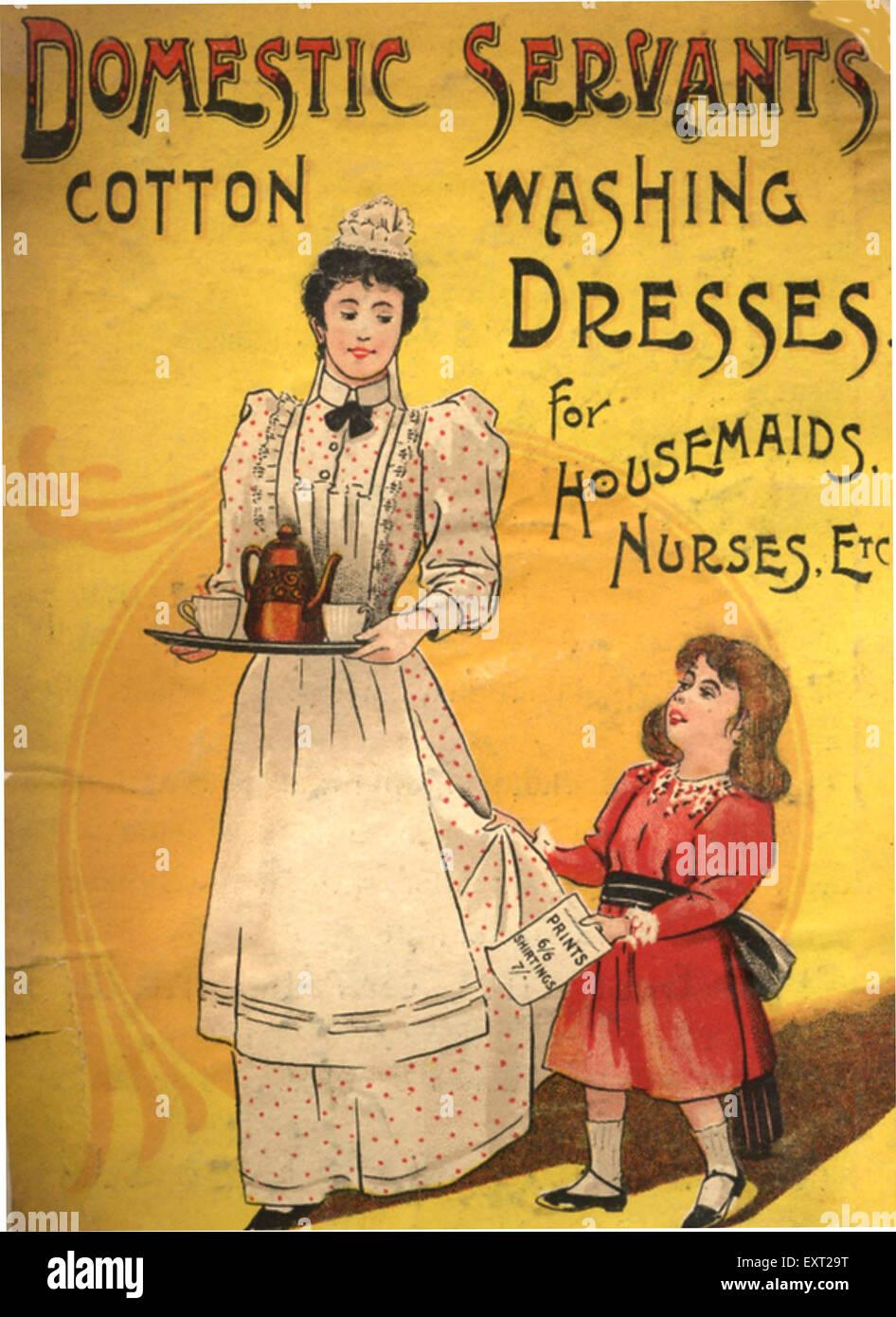 1890s UK Domestic Servants Uniforms Magazine Advert - Stock Image