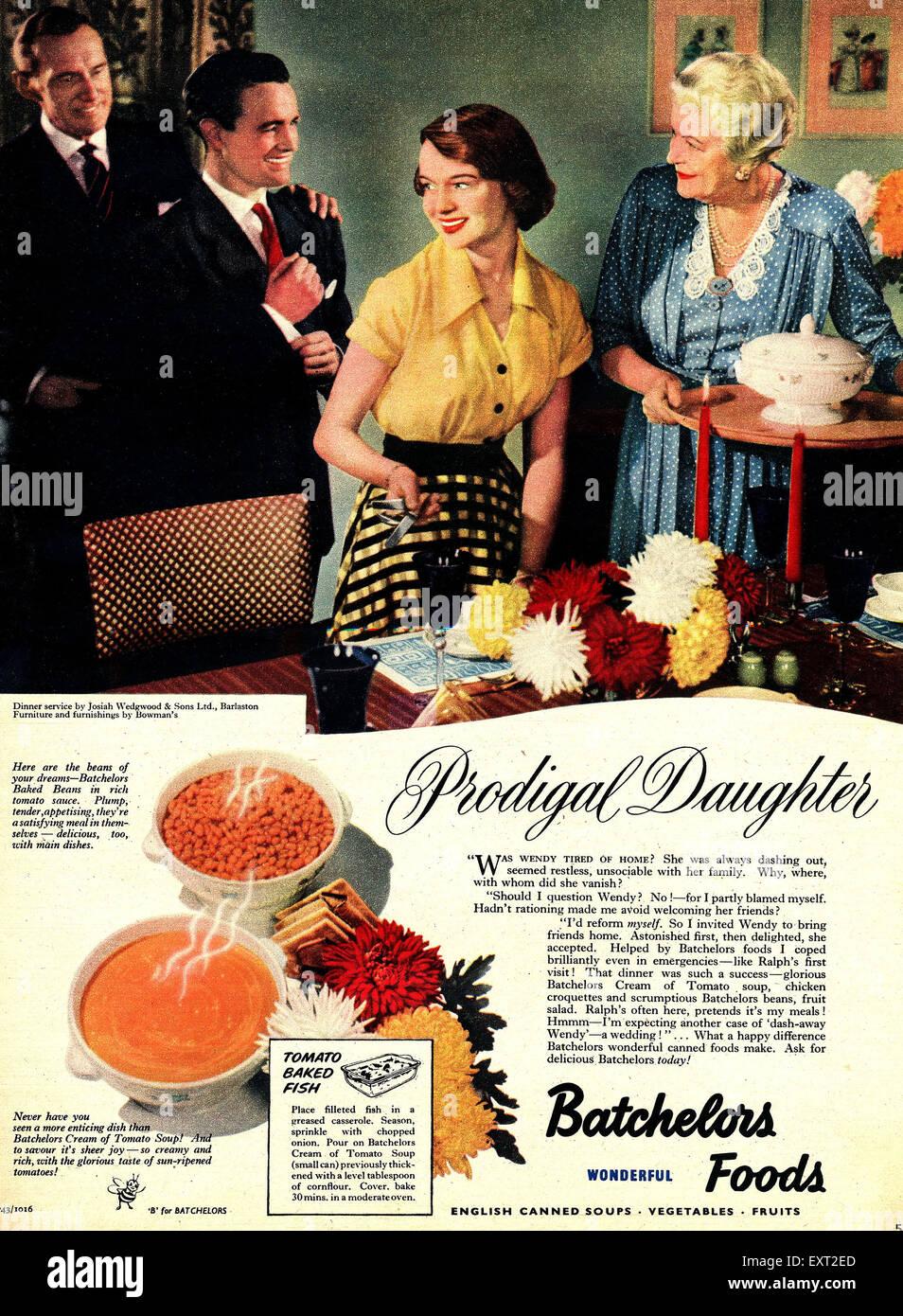 1950s UK Batchelors - Stock Image