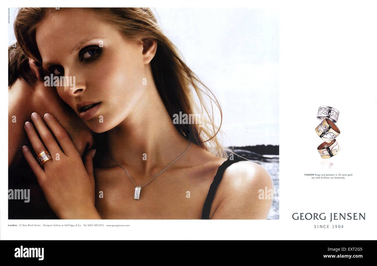 2000s UK Georg Jensen Magazine Advert - Stock Image