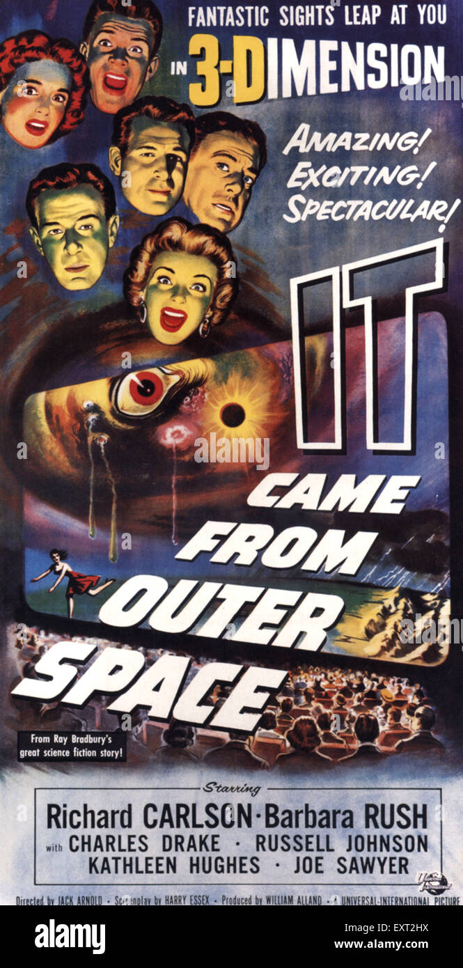 1950s USA It Came From Outer Space Film Poster - Stock Image