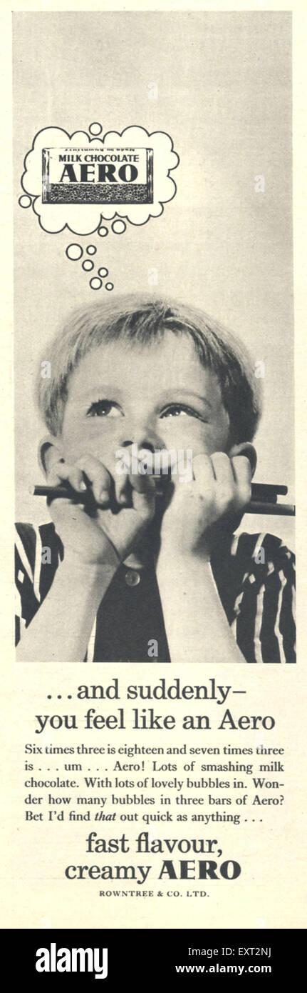1960s UK Aero Magazine Advert - Stock Image