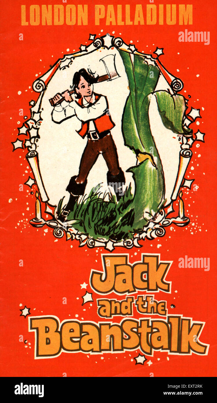 1970s UK Jack and the Beanstalk Poster - Stock Image