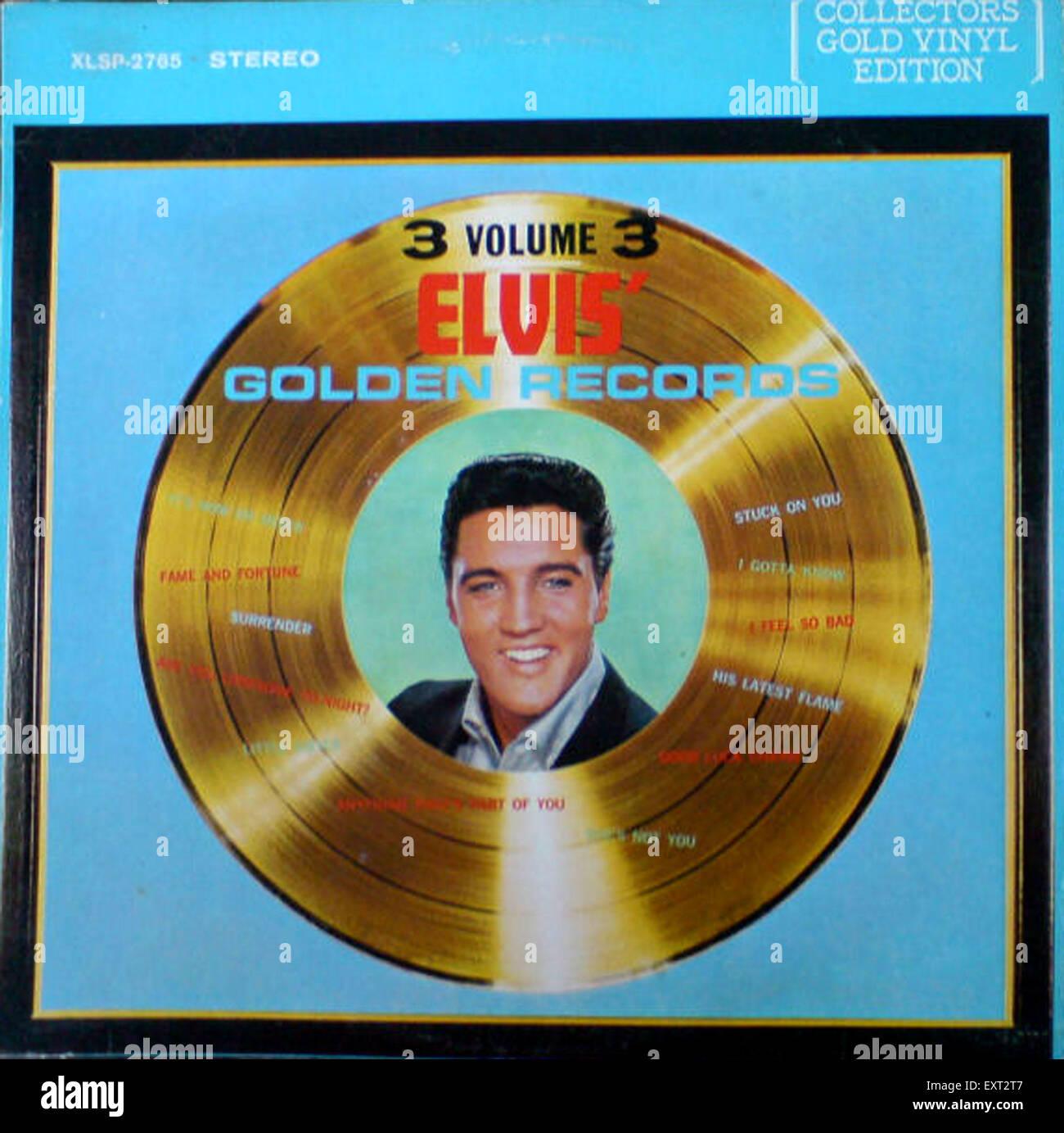 1960s USA Elvis Record Sleeve Album Cover - Stock Image