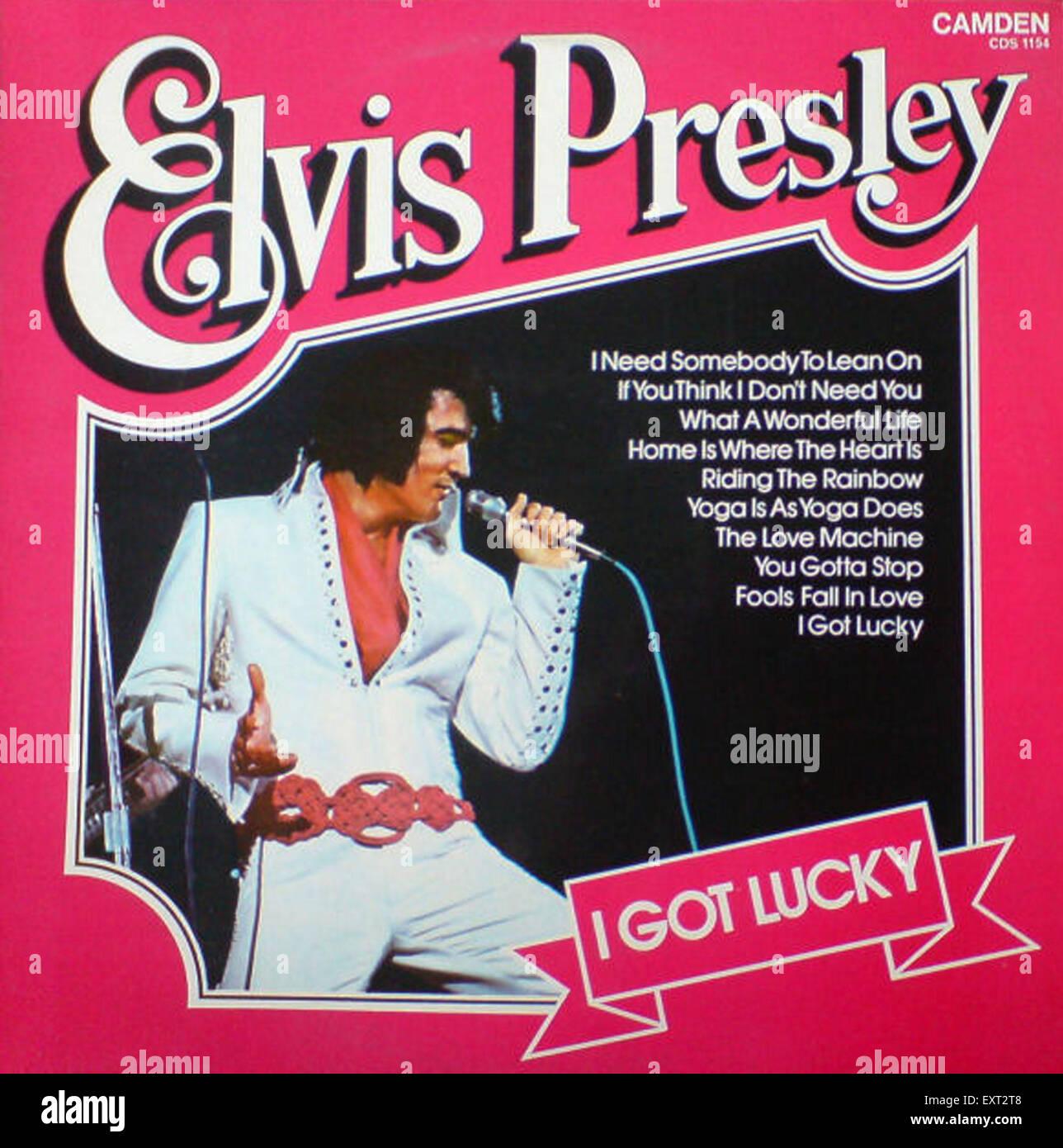 1970s USA Elvis Record Sleeve Album Cover - Stock Image