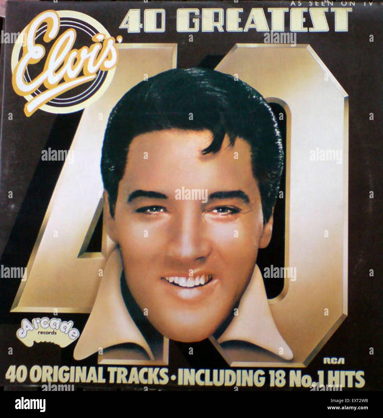 1960s USA Elvis Record Sleeve - Stock Image