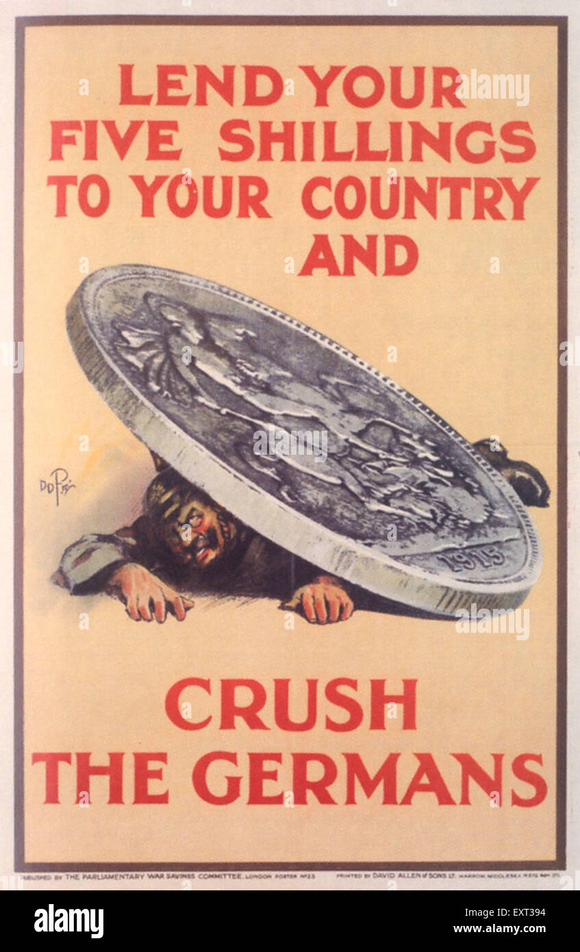 1910s UK WW1 Poster - Stock Image