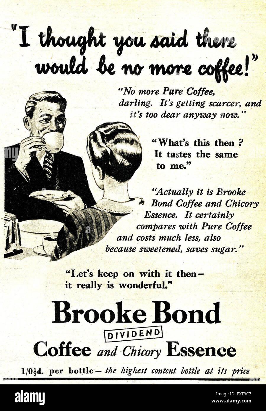 1950s UK Brooke Bond Magazine Advert Stock Photo: 85352071