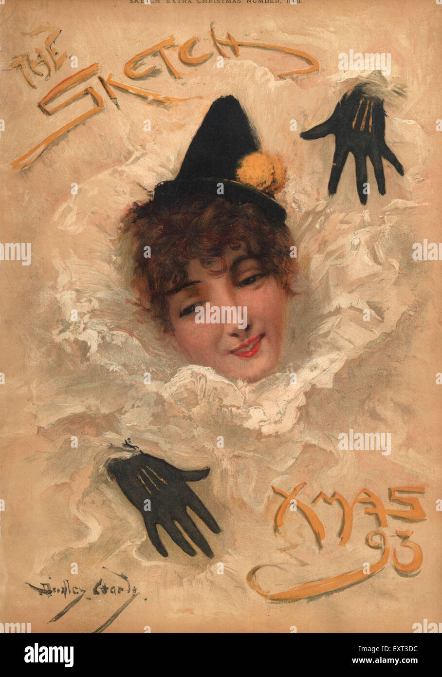 1890s UK The Sketch Magazine Cover Stock Photo