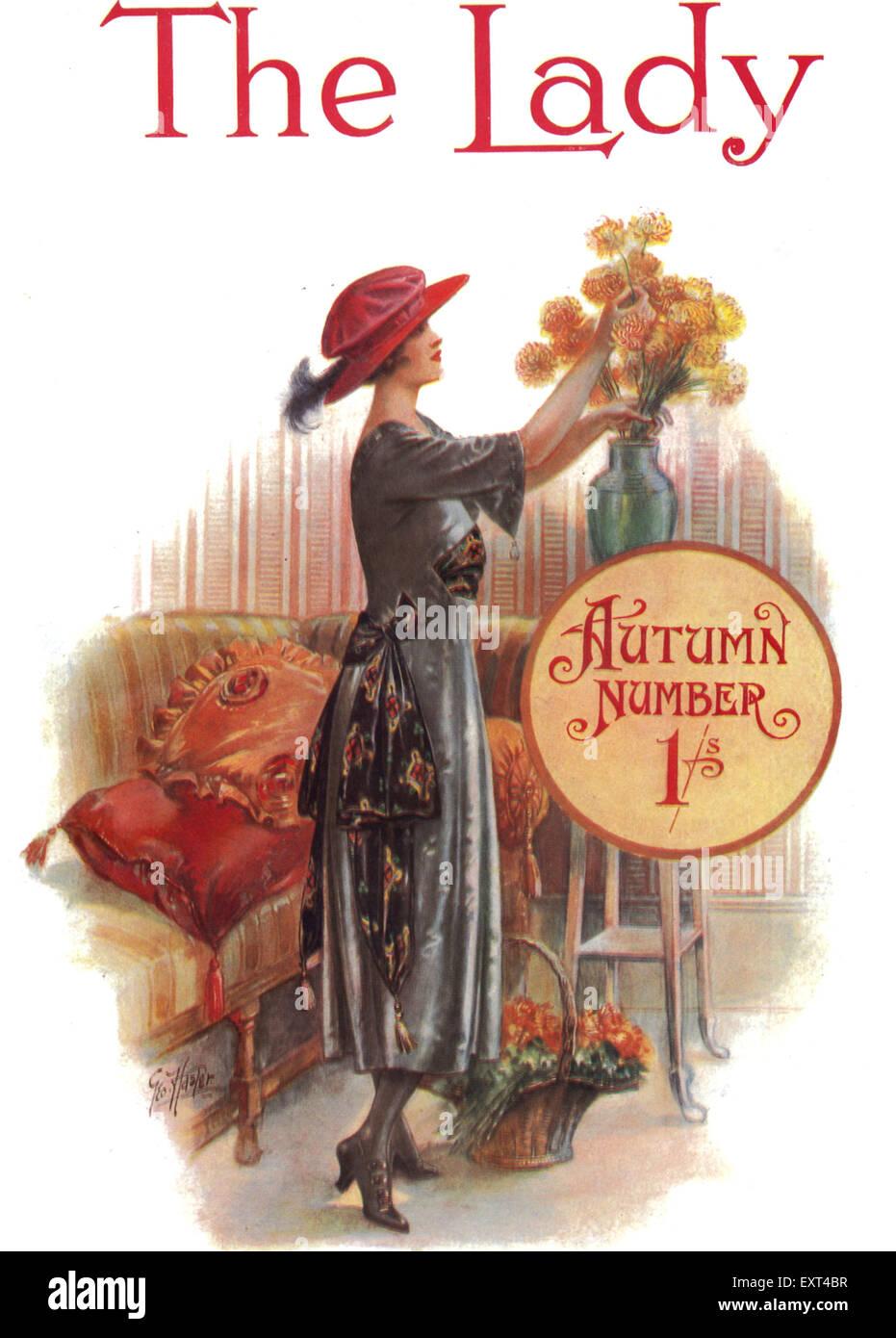 1900s UK The Lady Magazine Cover - Stock Image