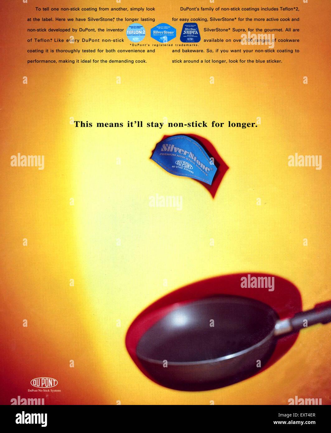 1990s UK Du Pont Magazine Advert - Stock Image