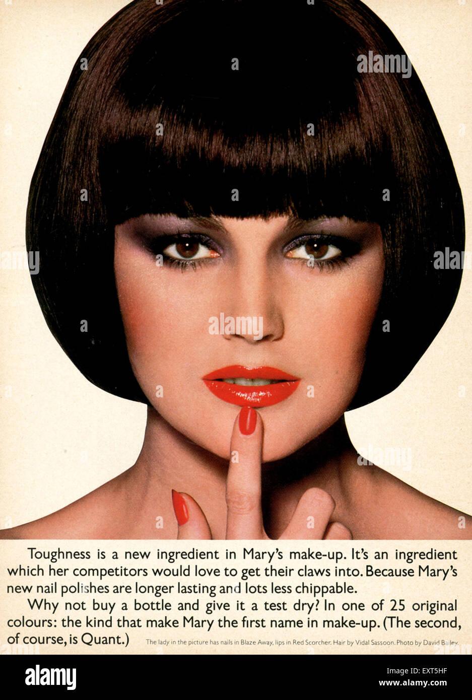 1970s UK Mary Quant Magazine Advert - Stock Image