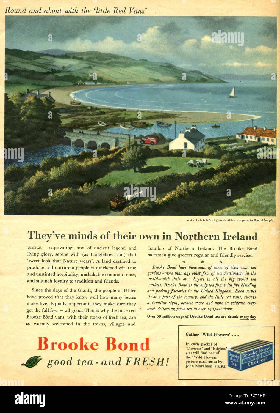 1950s UK Brooke Bond Magazine Advert - Stock Image