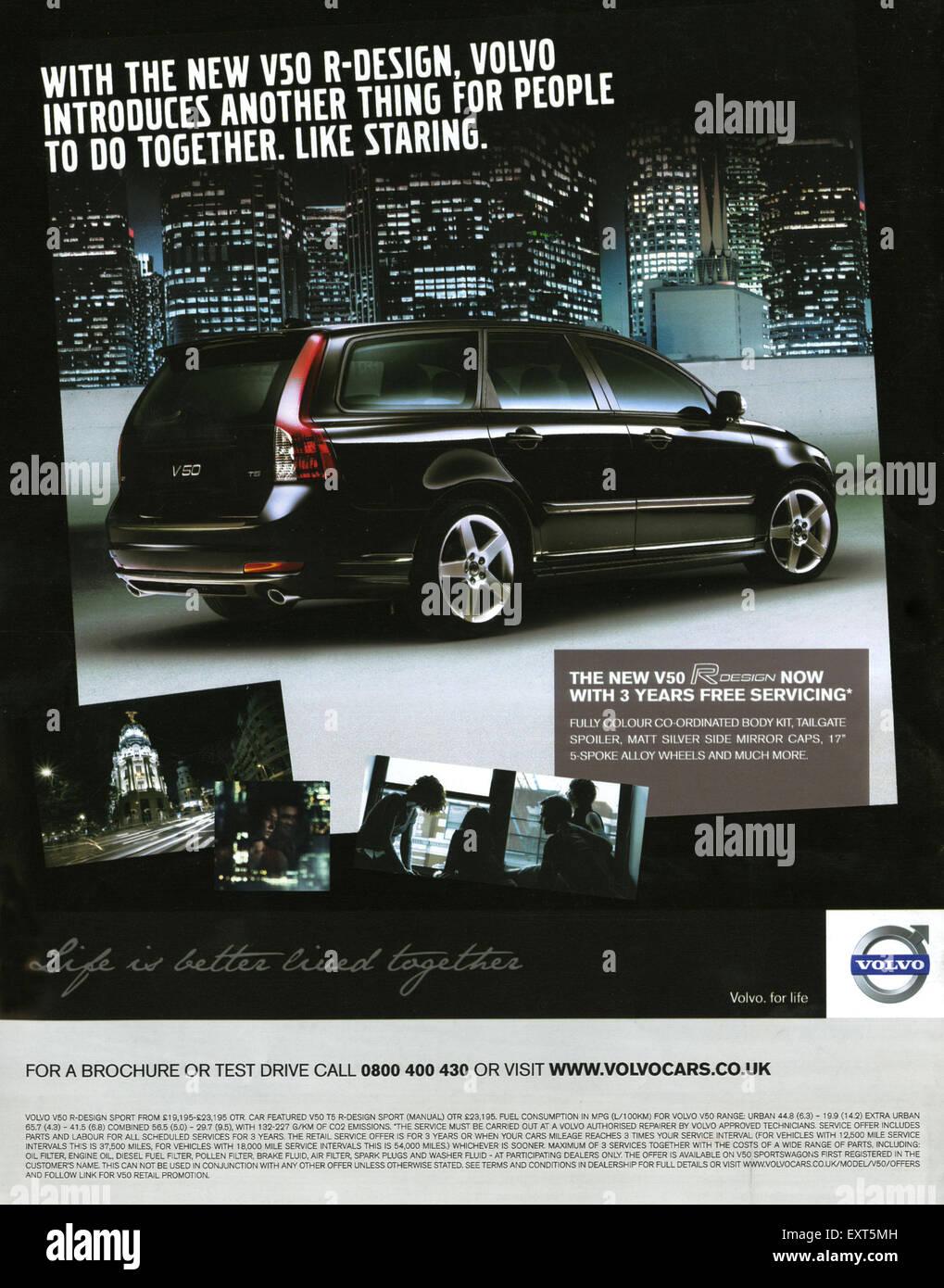 volvo v50 2011 brochure