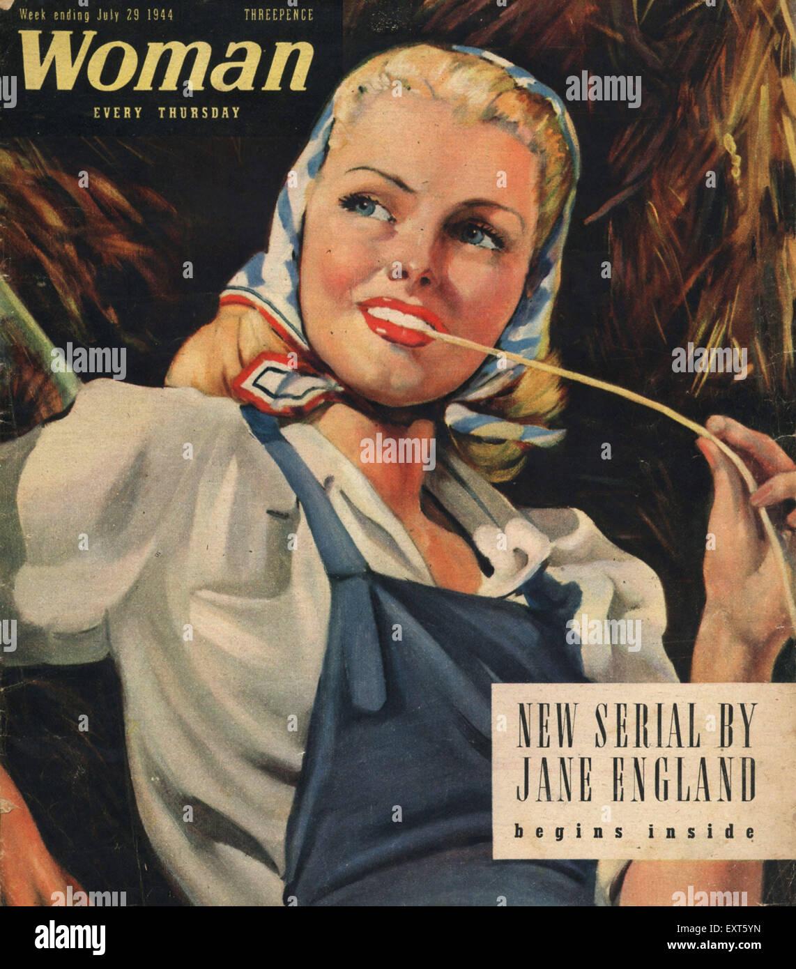 1940s UK woman Magazine Cover - Stock Image