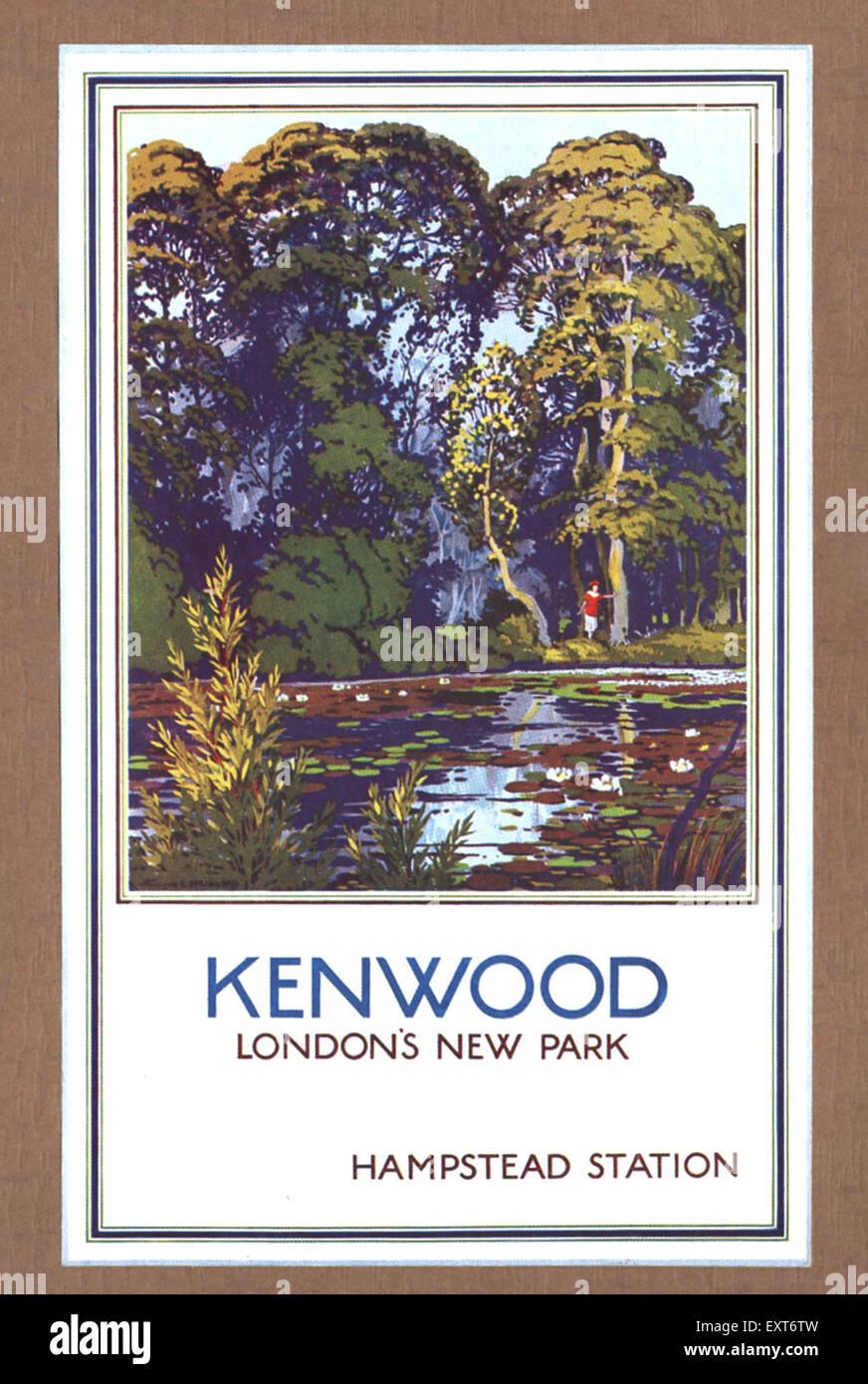 1930s UK London Transport Underground Poster - Stock Image