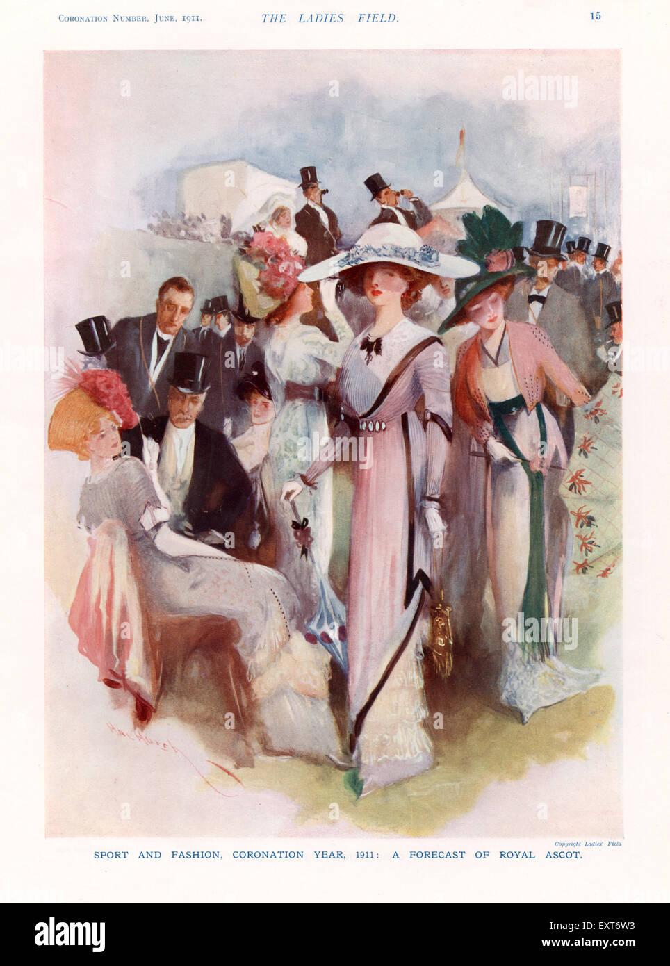1910s UK The Lady Magazine Plate - Stock Image