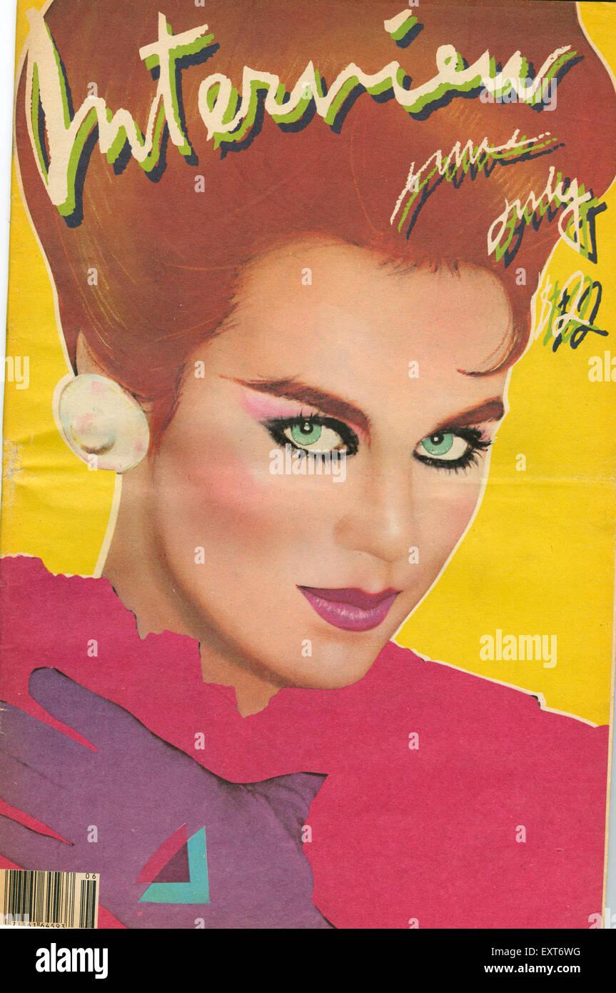 1980s Usa Interview Magazine Cover Stock Photo Alamy