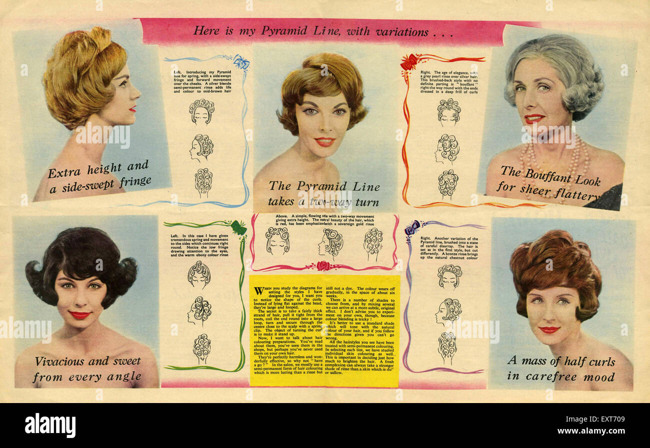 1950s Hairstyles High Resolution Stock Photography And Images Alamy