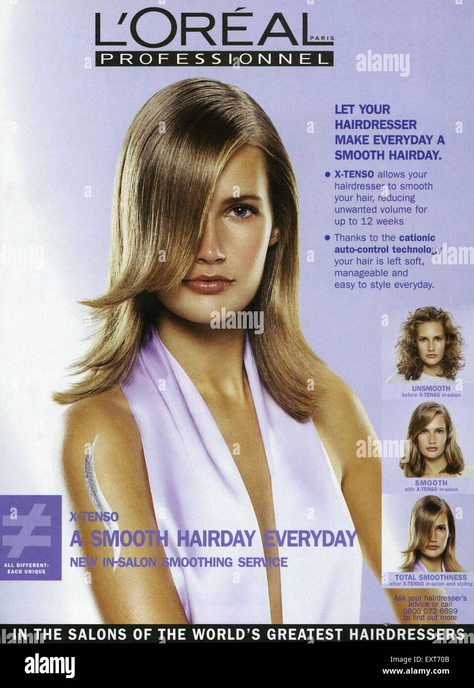2ee0544dcaf 2000s UK L'Oreal Magazine Advert Stock Photo: 85354875 - Alamy