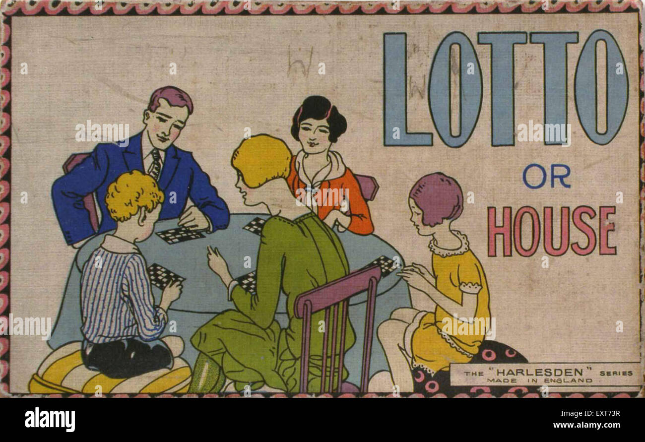 1930s UK Lotto Poster - Stock Image