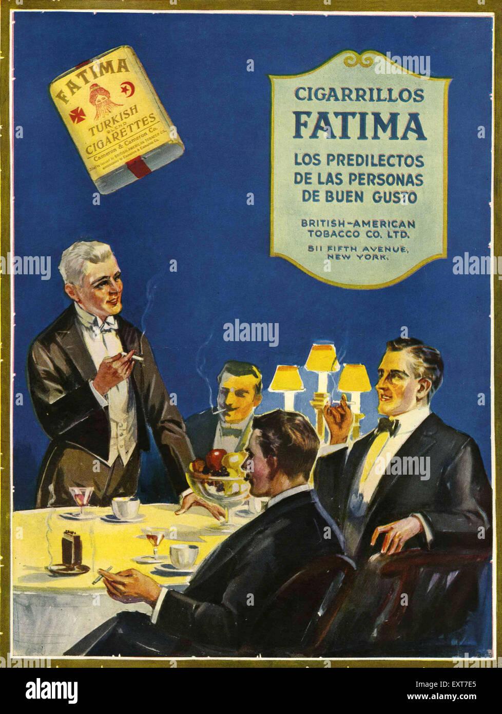 1930s Spain Fatima Magazine Advert - Stock Image