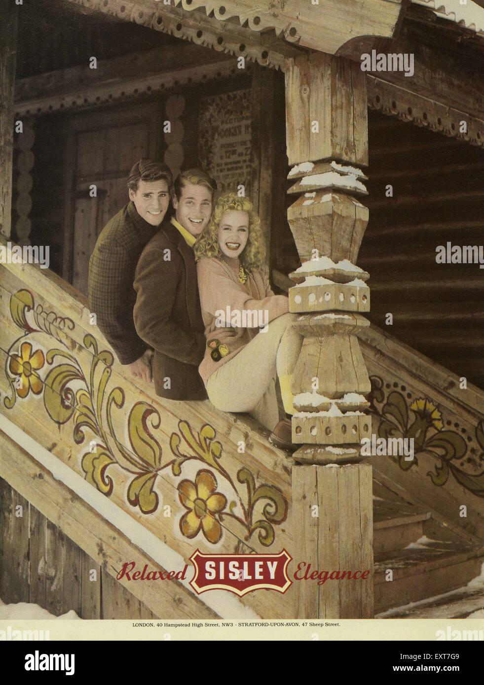 1980s UK Sisley Magazine Advert - Stock Image