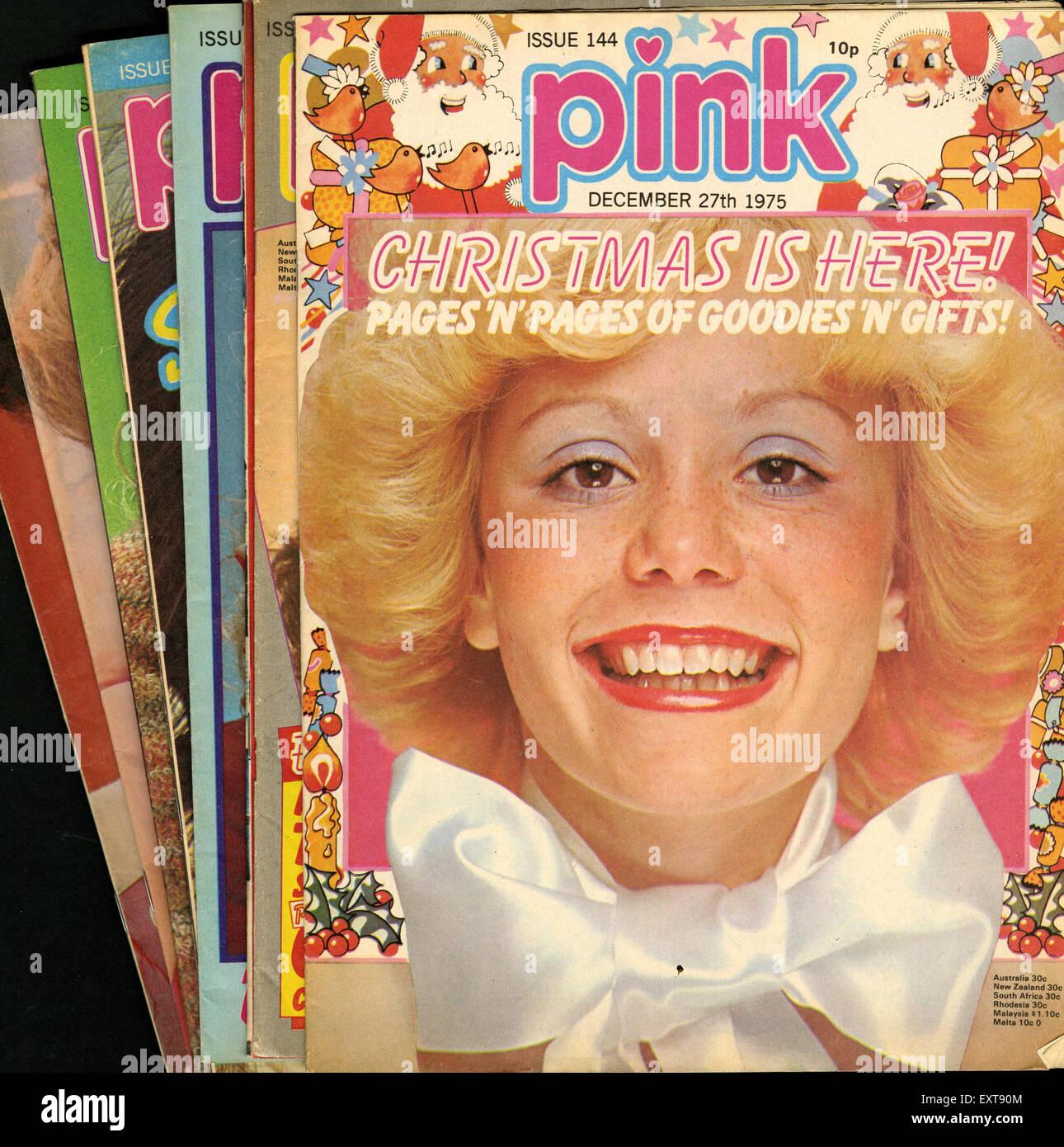 1970s UK Pink Magazines Magazine Cover - Stock Image