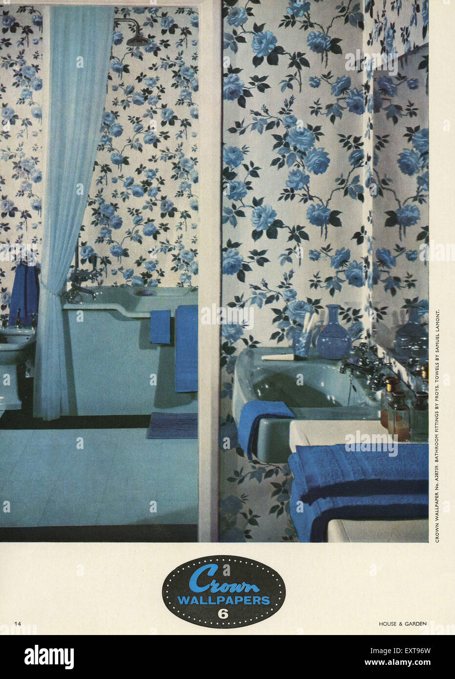 1950s Uk Crown Magazine Advert Stock Photo 85356625 Alamy