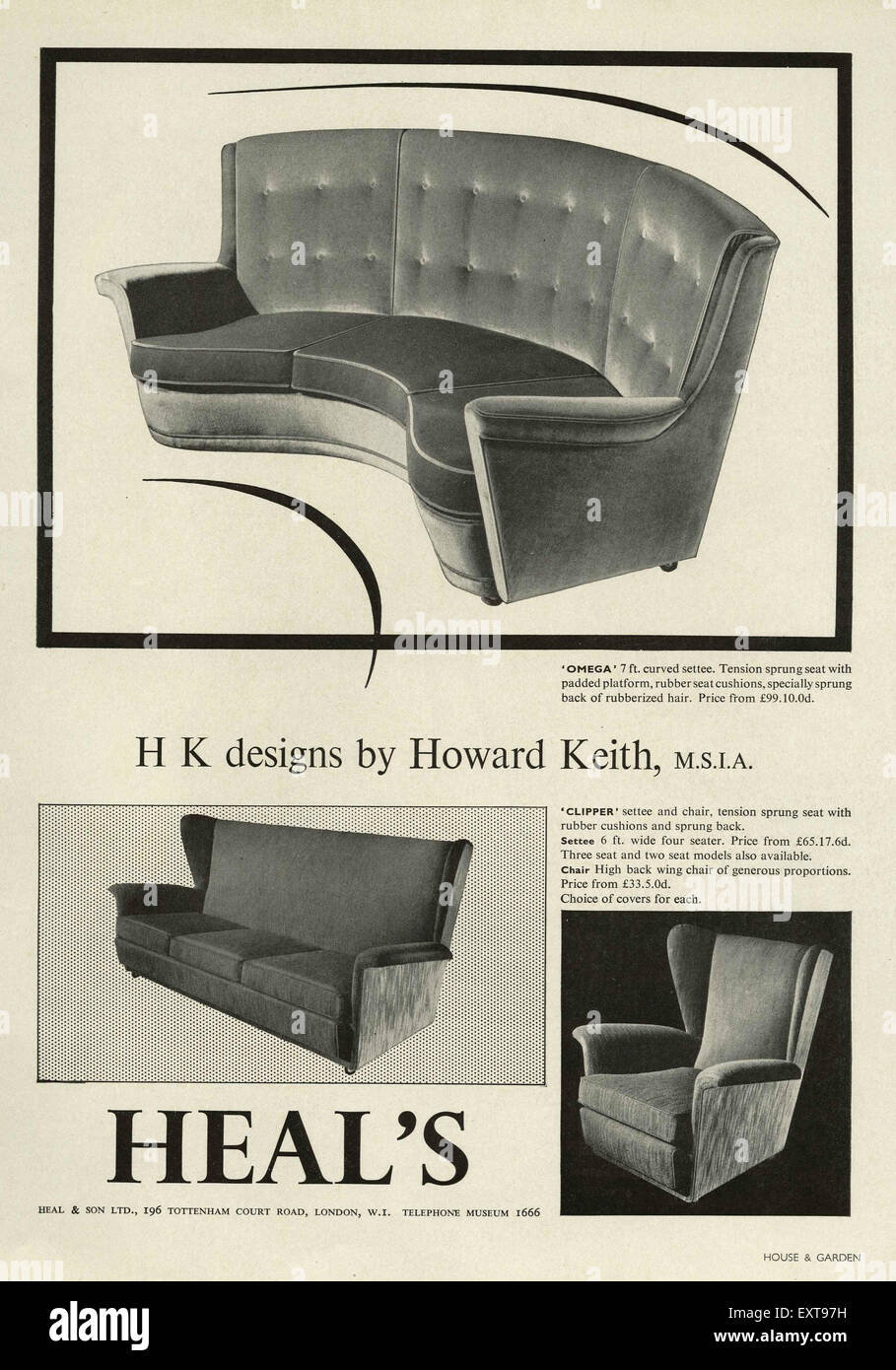 Surprising 1950S Uk Heals Magazine Advert Stock Photo 85356645 Alamy Andrewgaddart Wooden Chair Designs For Living Room Andrewgaddartcom