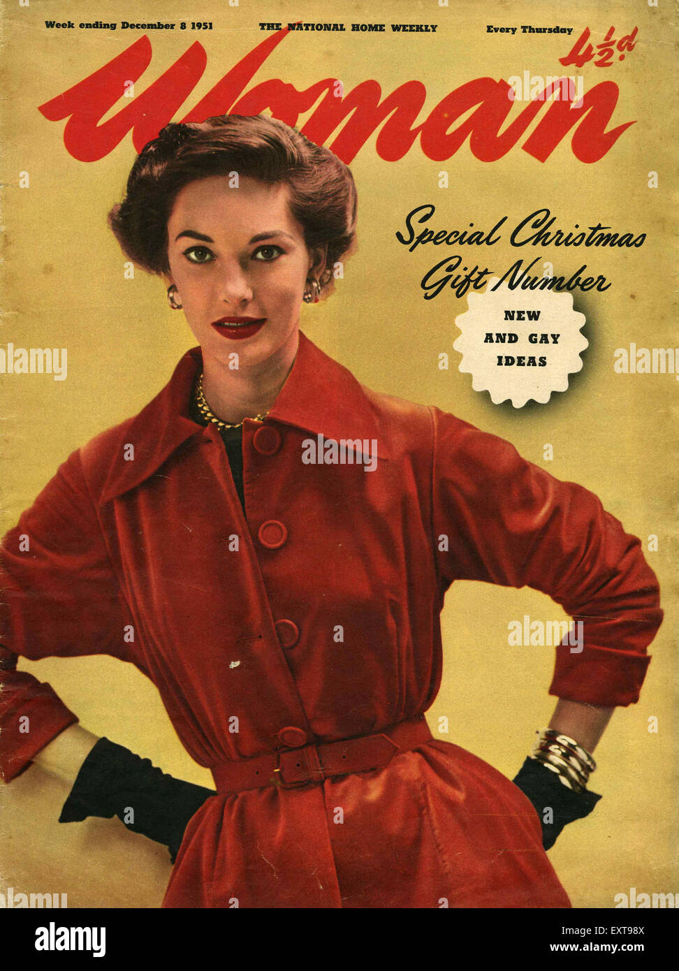 1950s Uk Woman Magazine Cover Stock Photo 85356682 Alamy