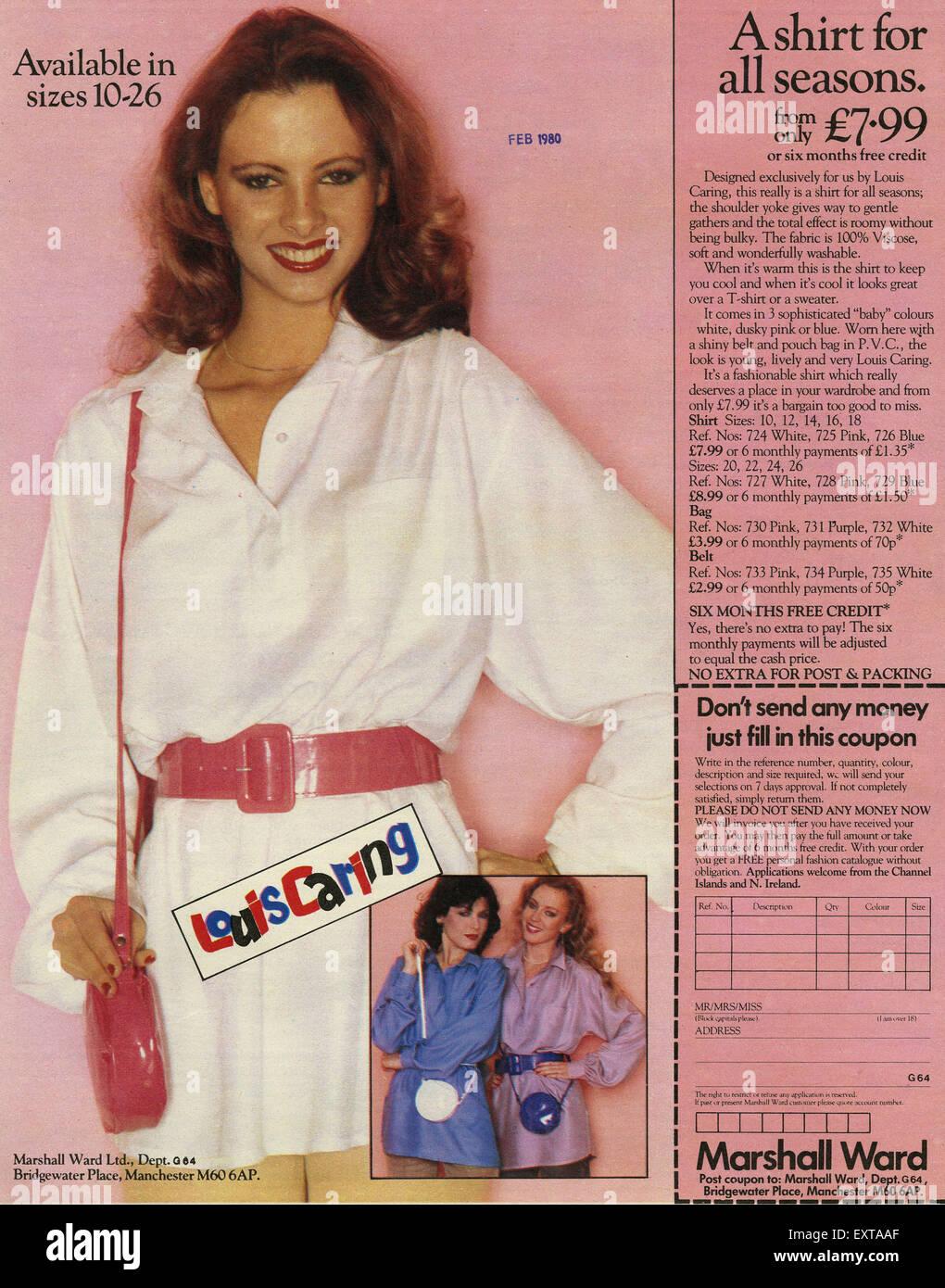 1980s UK Marshall Ward Catalogue/ Brochure Plate Stock Photo