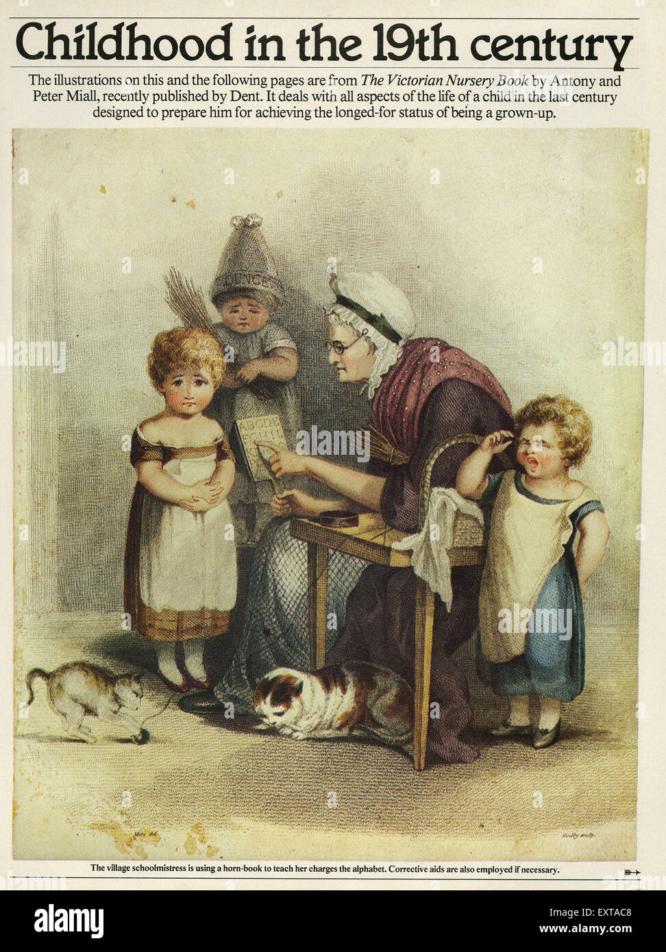 1840s & Pre UK Children in the Nineteenth Century Magazine Plate - Stock Image