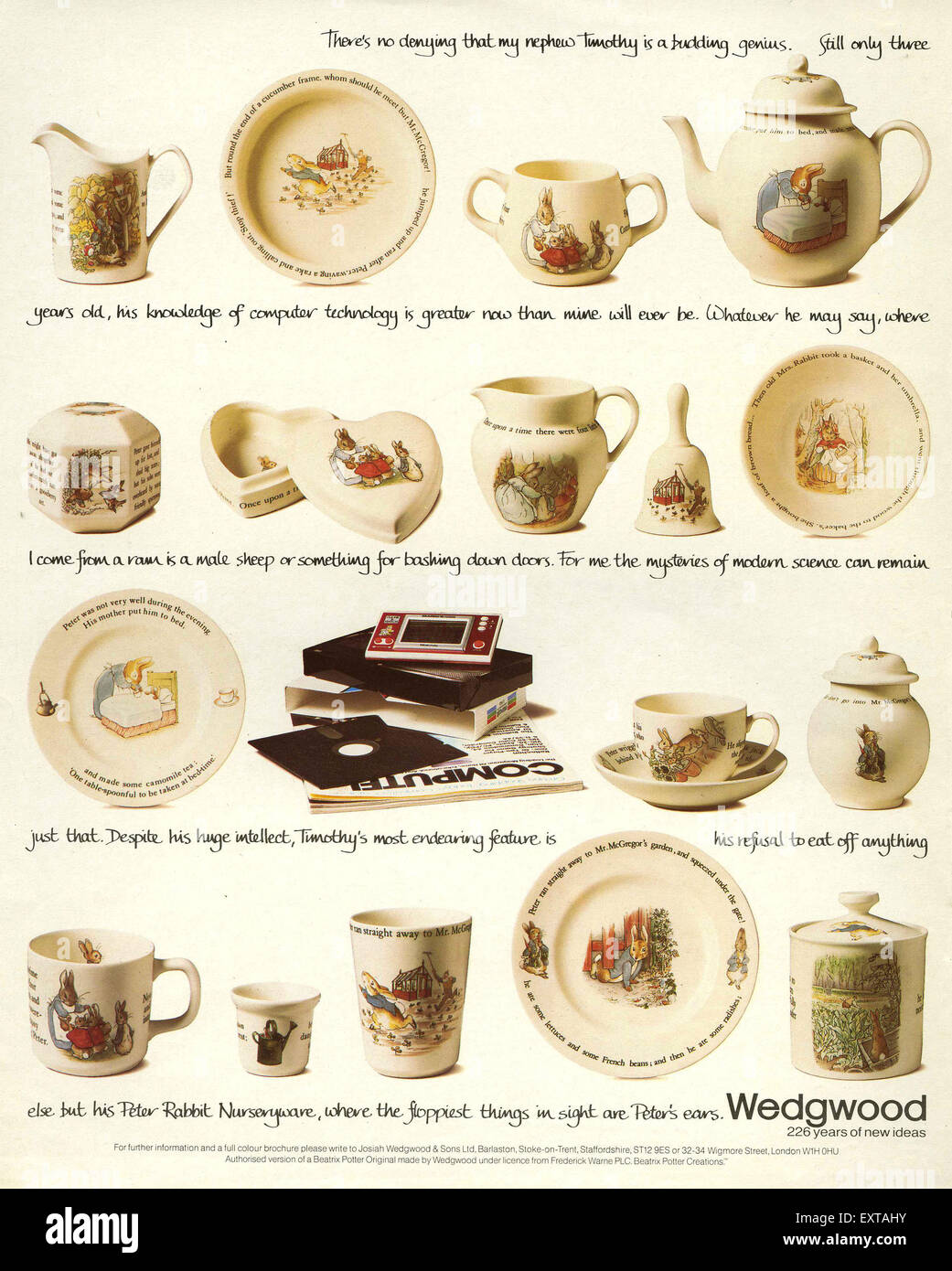 1980s UK Wedgwood Magazine Advert - Stock Image  sc 1 st  Alamy : wedgwood tableware uk - pezcame.com