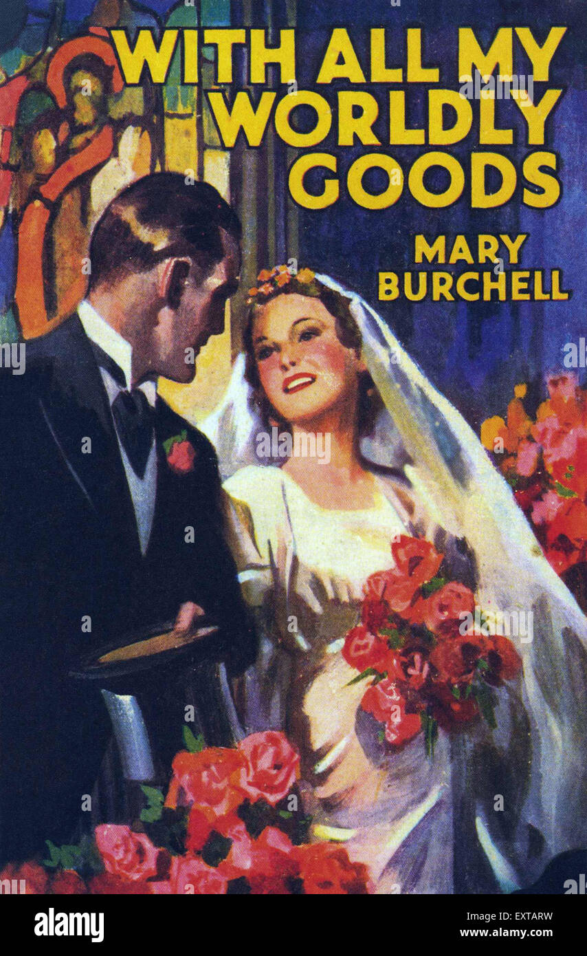 1930s UK Mills & Boon Book Cover - Stock Image