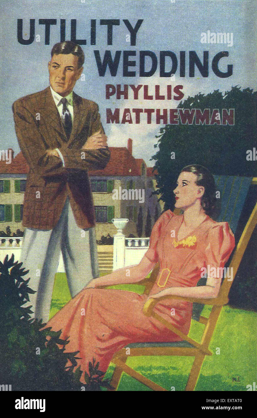 1940s UK Mills & Boon Book Cover - Stock Image