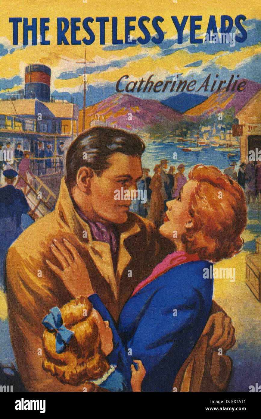 1950s UK Mills & Boon Book Cover - Stock Image
