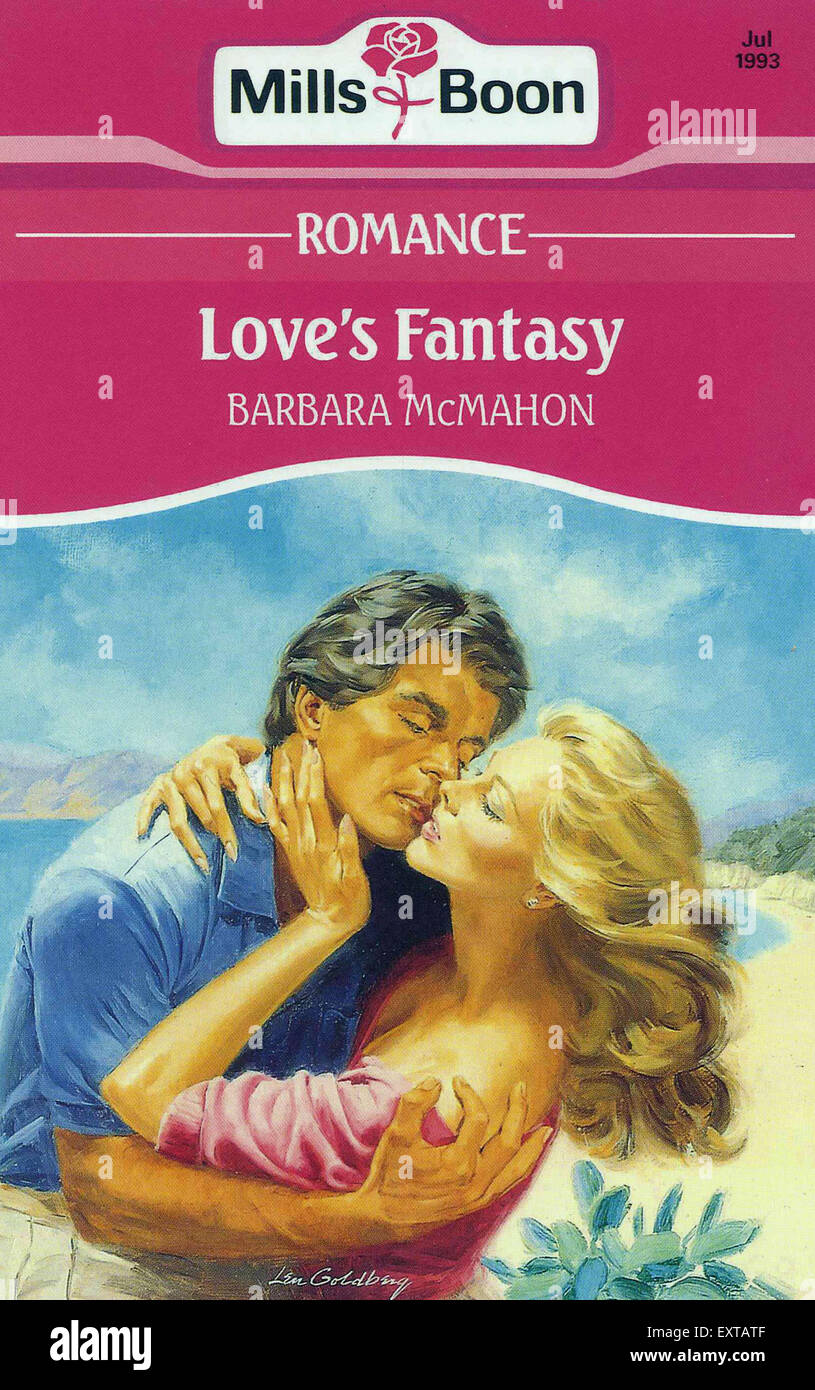 1990s UK Mills & Boon Book Cover - Stock Image