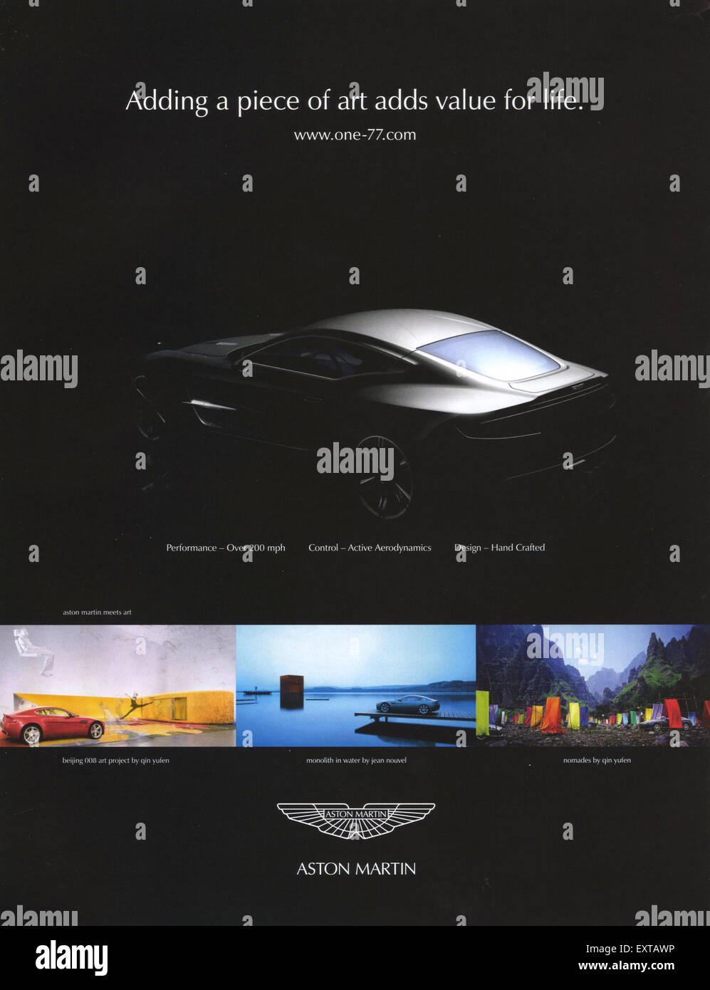 2000s uk aston martin magazine advert stock photo: 85357938 - alamy