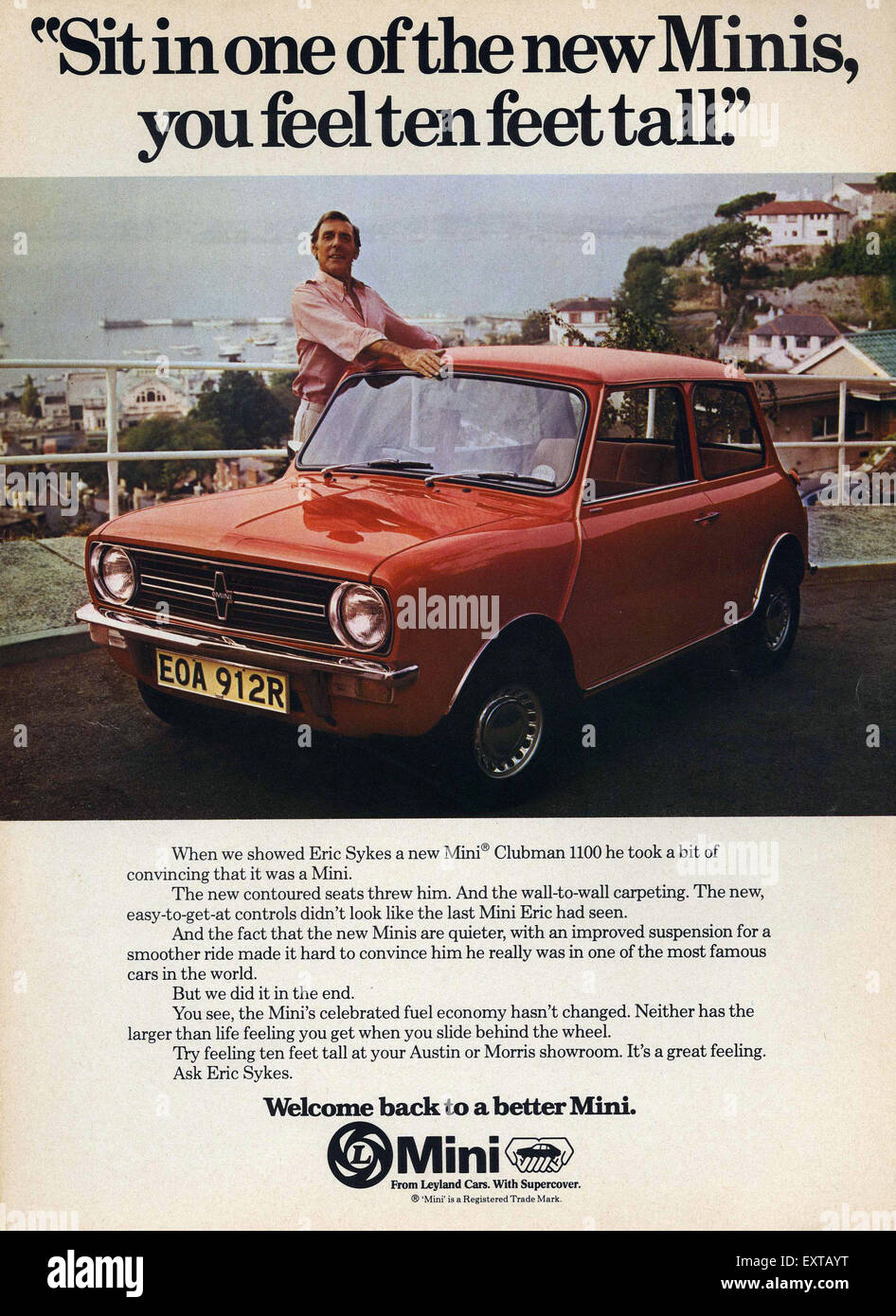 UK Mini Magazine Advert - Stock Image