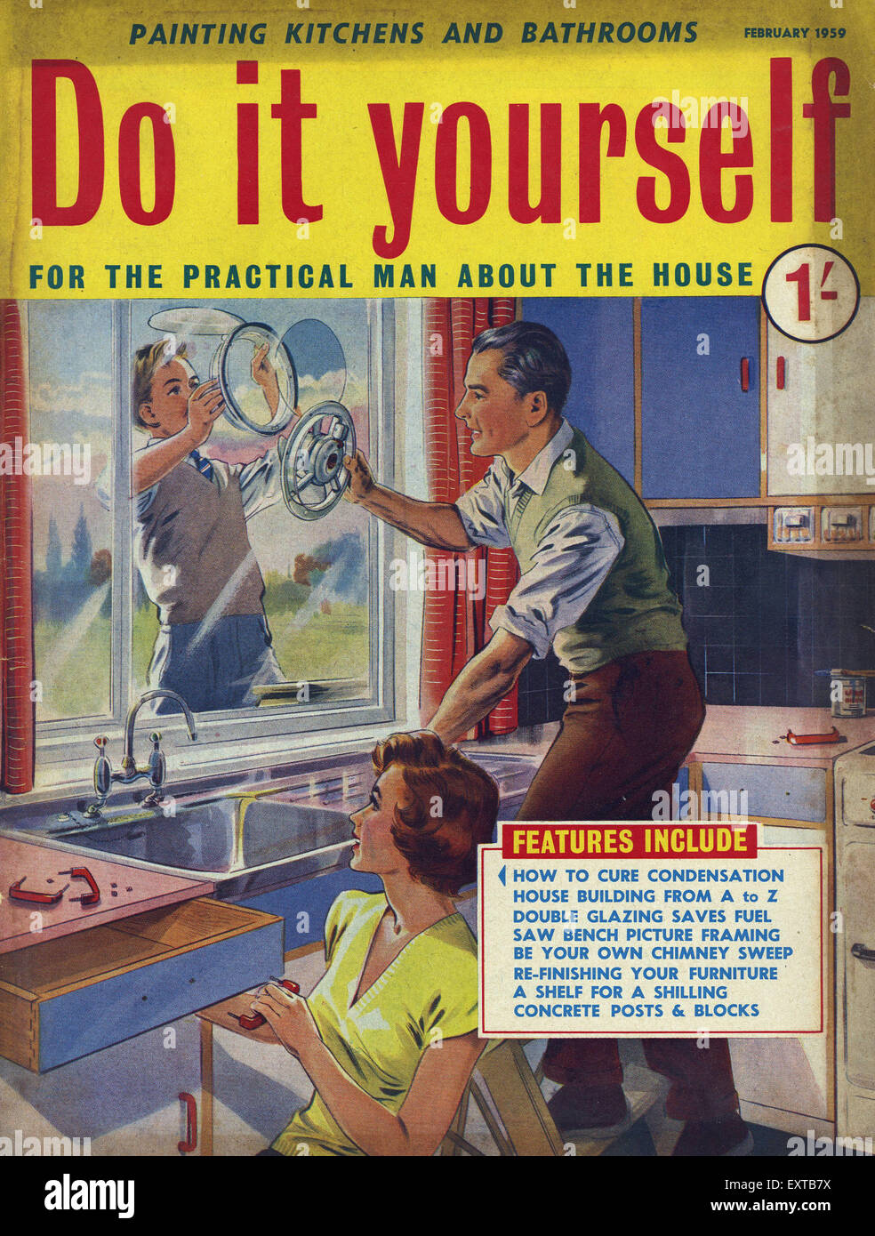 1950s uk do it yourself magazine cover stock photo 85358222 alamy 1950s uk do it yourself magazine cover solutioingenieria Images
