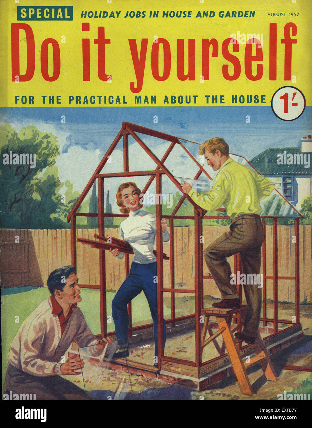 1950s uk do it yourself magazine cover stock photo 85358223 alamy 1950s uk do it yourself magazine cover solutioingenieria Gallery