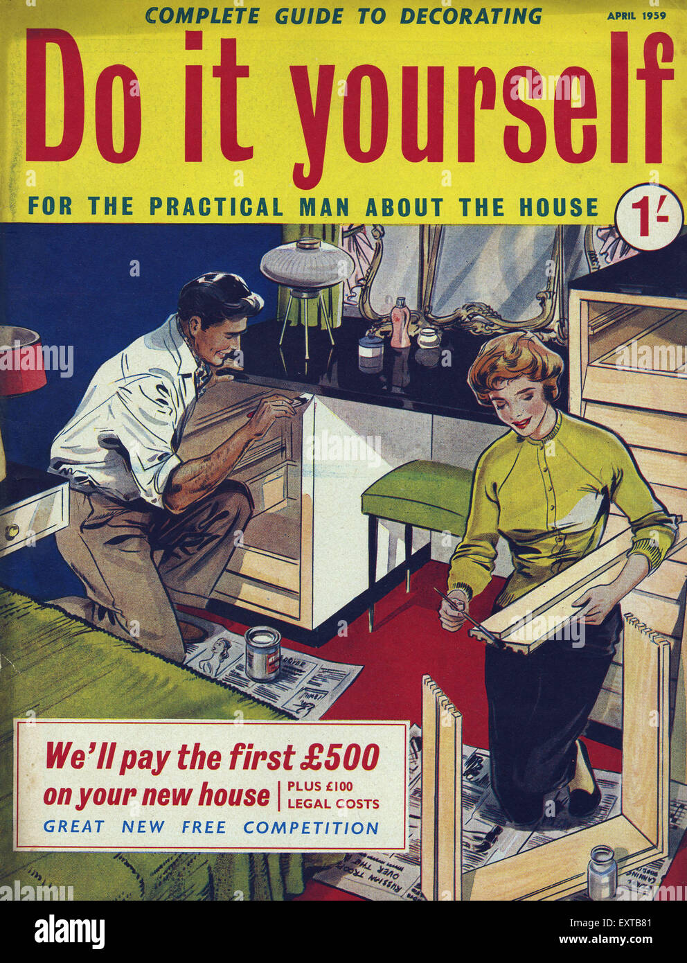 1950s uk do it yourself magazine cover stock photo 85358225 alamy 1950s uk do it yourself magazine cover solutioingenieria Gallery