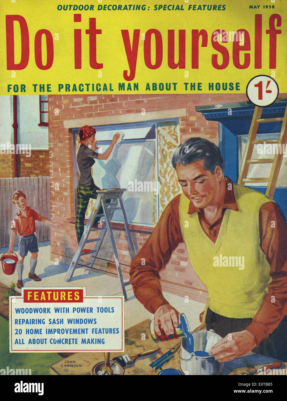 1950s uk do it yourself magazine cover stock photo 85358229 alamy 1950s uk do it yourself magazine cover solutioingenieria Images