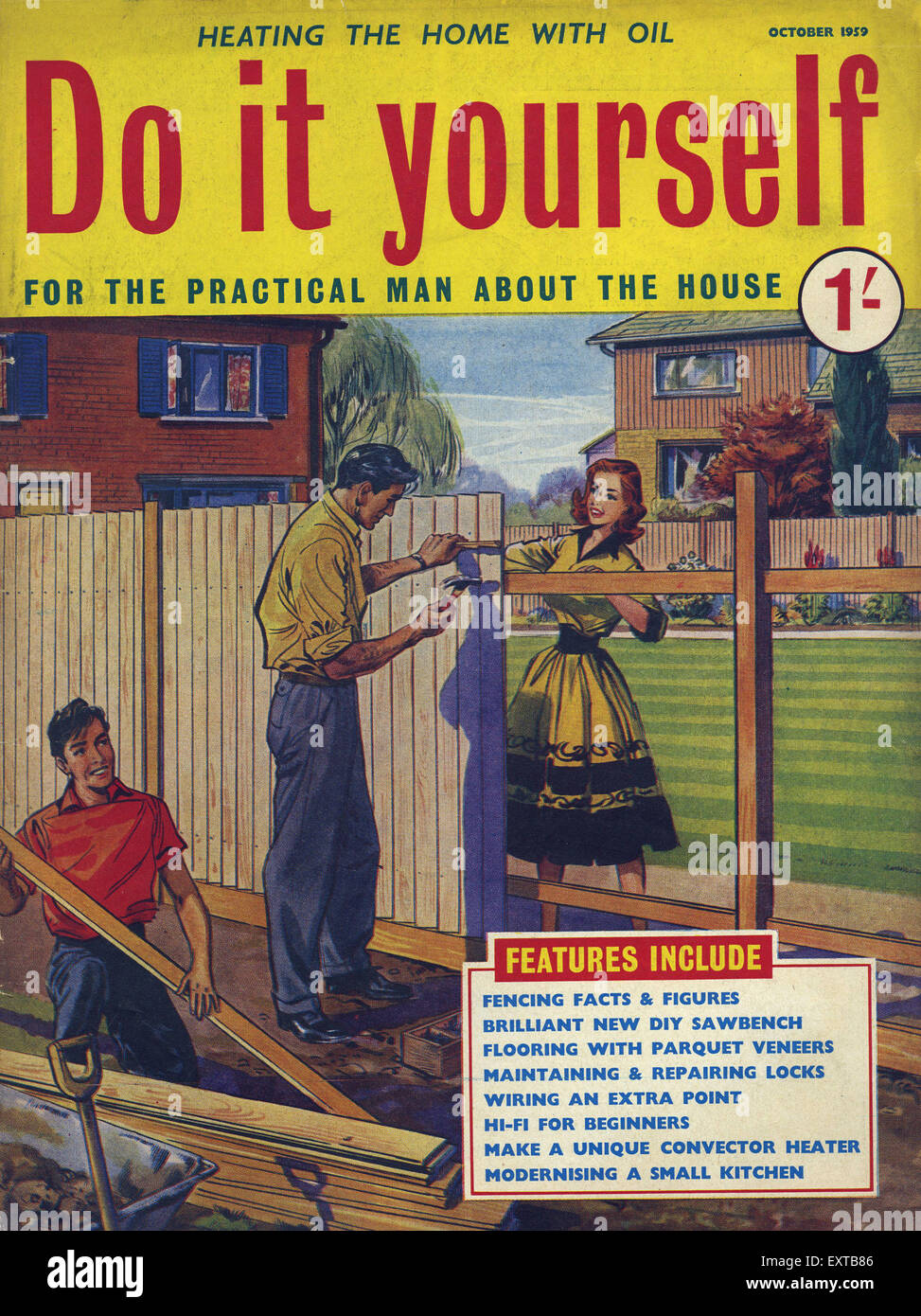 1950s uk do it yourself magazine cover stock photo 85358230 alamy 1950s uk do it yourself magazine cover solutioingenieria Gallery
