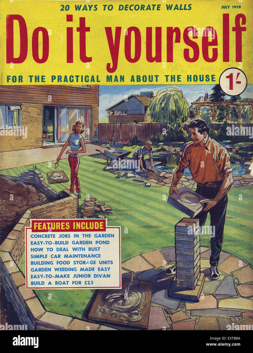 1950s uk do it yourself magazine cover stock photo 85358234 alamy 1950s uk do it yourself magazine cover solutioingenieria Image collections