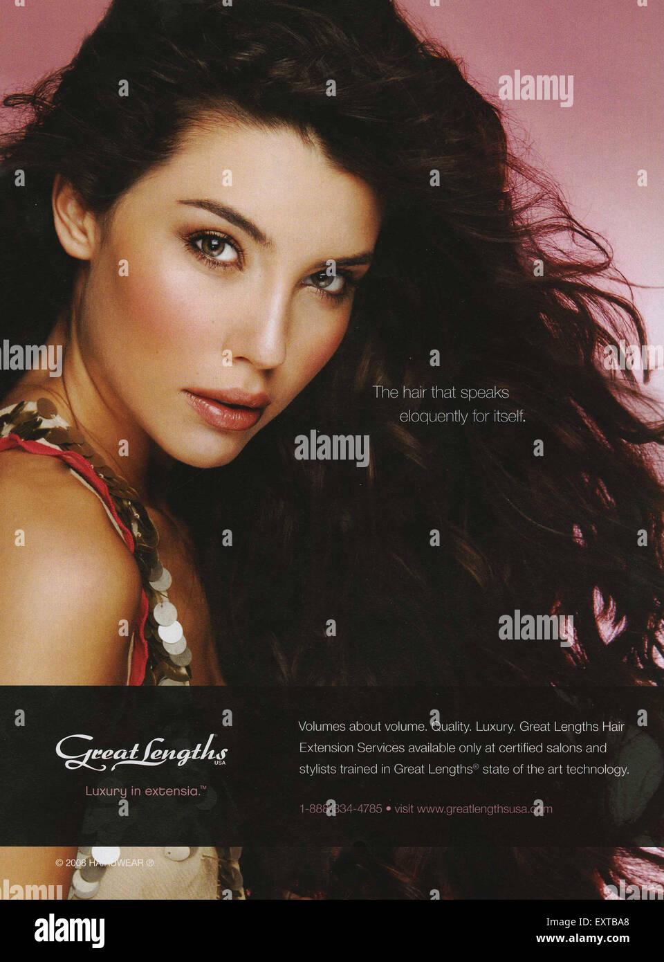 2000s USA Great Lengths Magazine Advert - Stock Image