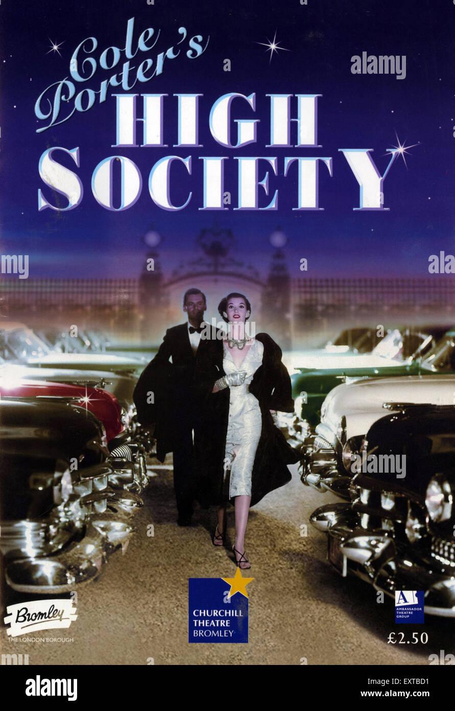 2000s UK High Society Poster - Stock Image